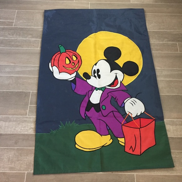 """Other - 44x28"""" Mickey Halloween flag fabric banner large"""